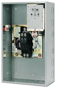 asco series 165 automatic transfer switches  asco series 165 with panel open